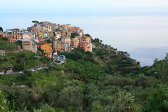 A aldeia piscatória de Cinque Terre foto de stock royalty free