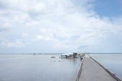 Aldeia piscatória de Ham Ninh, mar agradável/praia em Phu Quoc Imagens de Stock Royalty Free