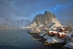 Aldeia piscatória de Hamnoy em ilhas de Lofoten, Noruega Imagem de Stock Royalty Free