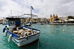 Aldeia piscatória de Marsaxlokk, Malta Fotografia de Stock
