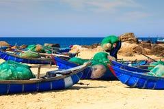 A aldeia piscatória dos pescadores Fotos de Stock Royalty Free