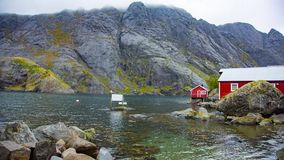 Aldeia piscatória em ilhas de Lofoten, Noruega filme