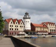 A aldeia piscatória em Kaliningrad foto de stock royalty free