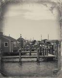 Aldeia piscatória em Massachusetts Fotografia de Stock