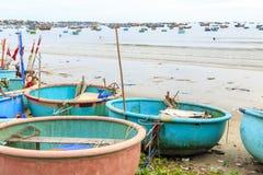 Aldeia piscatória em Mui Ne, Vietname, 3Sudeste Asiático fotos de stock royalty free