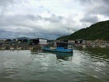 Aldeia piscatória em Vietname Foto de Stock Royalty Free