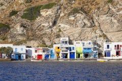 Aldeia piscatória grega pitoresca foto de stock
