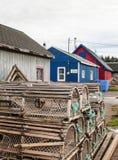 Aldeia piscatória no príncipe Edward Island Imagens de Stock