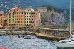 Aldeia piscatória no Riviera Imagens de Stock Royalty Free