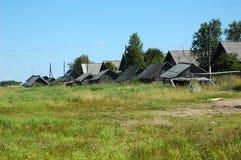 Aldeia piscatória russian pequena Fotos de Stock