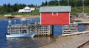 Aldeia piscatória - Terra Nova, Canadá fotos de stock royalty free