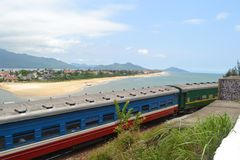 Aldeia piscatória vietnamiana fotografia de stock