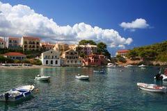 Aldeia piscatória grega Fotos de Stock Royalty Free