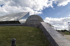 Alden Planetarium em Chicago fotos de stock royalty free