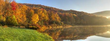 Alder Lake Morning Fog Panorama Royalty Free Stock Photos