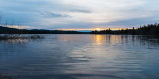 Alder Lake at Sunset. Royalty Free Stock Image