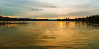 Alder Lake at Sunset. Stock Image