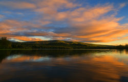 Alder Lake at Sunset Royalty Free Stock Image