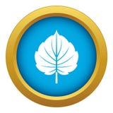 Alder leaf icon blue vector isolated. On white background for any design stock illustration