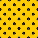 Alder leaf pattern vector. Alder leaf pattern seamless vector repeat geometric yellow for any design royalty free illustration