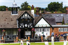 Alderley边缘蟋蟀俱乐部是一家非职业蟋蟀俱乐部根据在Alderley边缘在彻斯特 免版税图库摄影