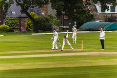 Alderley Edge Cricket Club is an amateur cricket club based at Alderley Edge in Cheshire Royalty Free Stock Image
