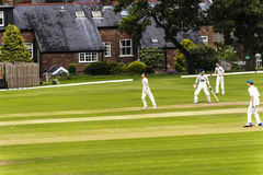 Alderley Edge Cricket Club is an amateur cricket club based at Alderley Edge in Cheshire Stock Photo
