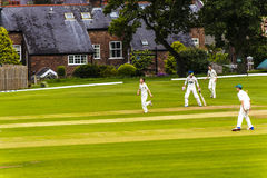 Alderley Edge Cricket Club is an amateur cricket club based at Alderley Edge in Cheshire Stock Photography