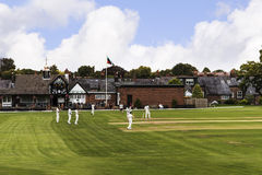 Alderley Edge Cricket Club is an amateur cricket club based at Alderley Edge in Cheshire Stock Images