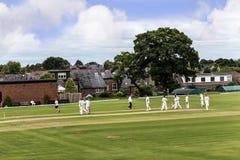 Alderley krawędzi krykieta klub jest amatorskim krykieta klubem opierającym się przy Alderley krawędzią w Cheshire Zdjęcia Stock