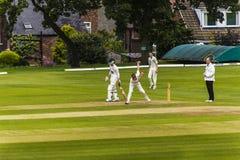 Alderley krawędzi krykieta klub jest amatorskim krykieta klubem opierającym się przy Alderley krawędzią w Cheshire Obraz Royalty Free