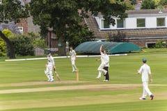 Alderley krawędzi krykieta klub jest amatorskim krykieta klubem opierającym się przy Alderley krawędzią w Cheshire Zdjęcia Royalty Free
