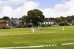 Alderley krawędzi krykieta klub jest amatorskim krykieta klubem opierającym się przy Alderley krawędzią w Cheshire Zdjęcie Royalty Free