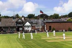 Alderley-Rand-Kricket-Club ist ein Amateurkricketclub, der an Alderley-Rand in Cheshire basiert wird Lizenzfreies Stockbild