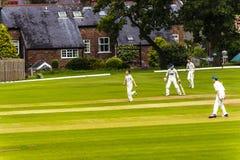 Alderley-Rand-Kricket-Club ist ein Amateurkricketclub, der an Alderley-Rand in Cheshire basiert wird Stockfotografie