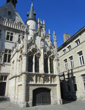 Aldermans House, Aalst, Belgium. The intricate stonework of the Alderman's house which stands on the main market place in Aalst, a town in East Flanders, Belgium Royalty Free Stock Images