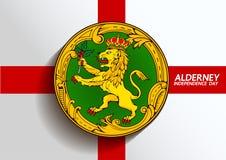 Alderney flag symbol vector illustration