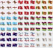 Alderney, Hong Kong, Sri Lanka, République du Sakha, Suridame, Îles Maurice, Îles Caïman, Crimée, Chypre Grand ensemble de 81 dra Photo libre de droits