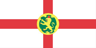 Alderney Islands flag Royalty Free Stock Photography