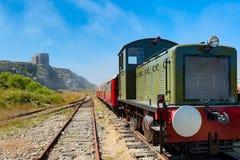 Alderney järnväg på Alderney Royaltyfria Foton