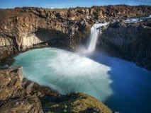 Aldeyjarfoss, noordelijk IJsland Stock Foto