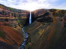The Aldeyjarfoss Waterfall in North Iceland.