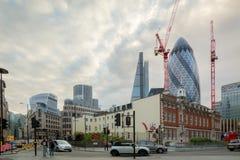 Aldgate, Londyn, dzielnica biznesu Obraz Stock