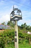 ALDHAM ESSEX UK   Traditional village sign Royalty Free Stock Photos