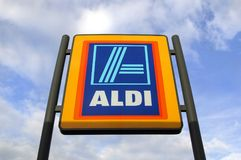Aldi Commercial Sign Stock Images