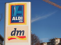 Aldi and DM Royalty Free Stock Image