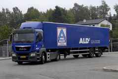 ALDI FOOD DELIVERY Stock Photography