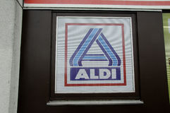 ALDI GROCERY AND FOOD STORE_GERMAN CHAIN MARKET Royalty Free Stock Photo