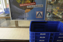 ALDI GROCERY AND FOOD STORE_GERMAN CHAIN MARKET Stock Images