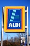 Aldi logo advertising sign Royalty Free Stock Image